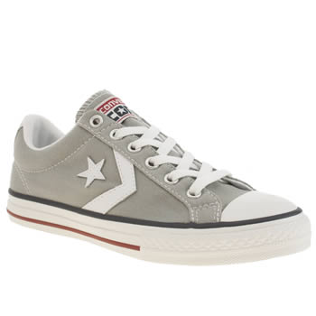 Converse Light Grey Star Player Unisex Youth