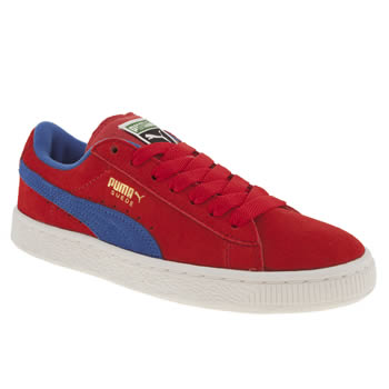 Puma Red Suede Classic Unisex Youth