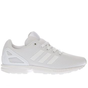 Unisex Adidas White Zx Flux Unisex Youth