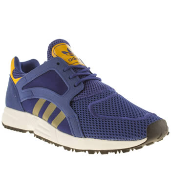 Adidas Blue & Yellow Racer Lite Unisex Youth