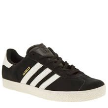 Adidas Black & White Gazelle 2 Unisex Youth