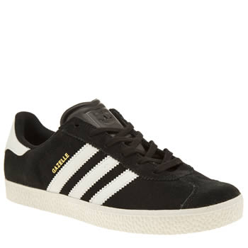 Unisex Adidas Black & White Gazelle 2 Unisex Youth