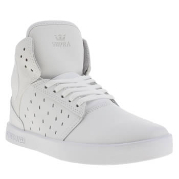 Supra White Atom Unisex Youth