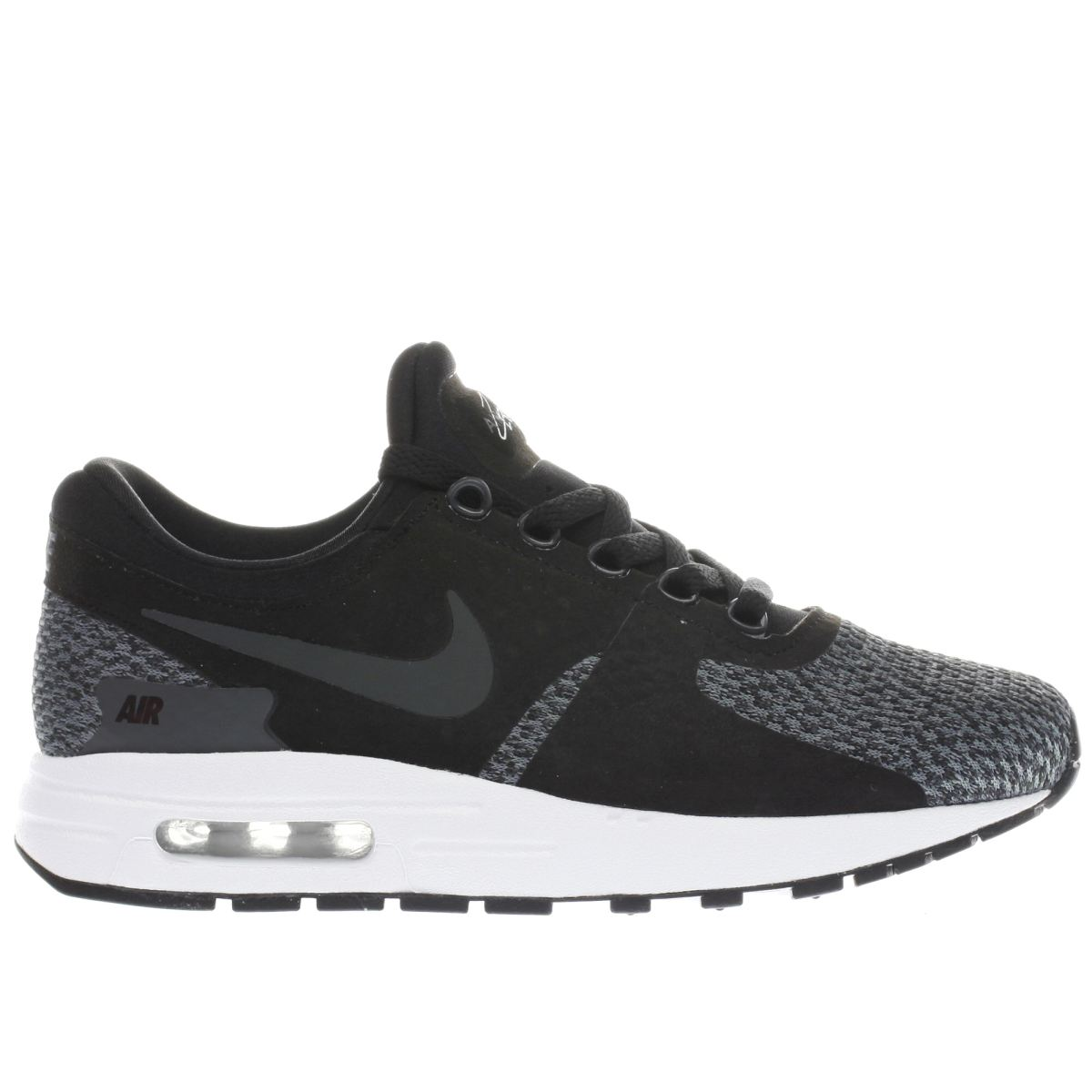 nike black & grey air max zero se Youth Trainers