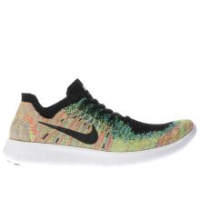 Nike Black & Green Free Run Flyknit 2 Unisex Youth