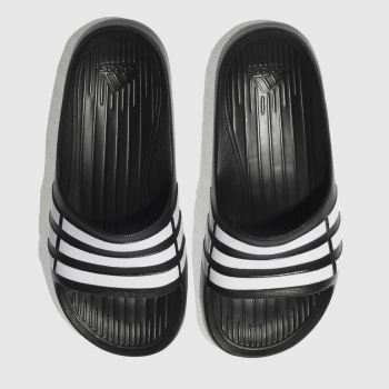 Adidas Black & White DURAMO SLIDE Unisex Youth