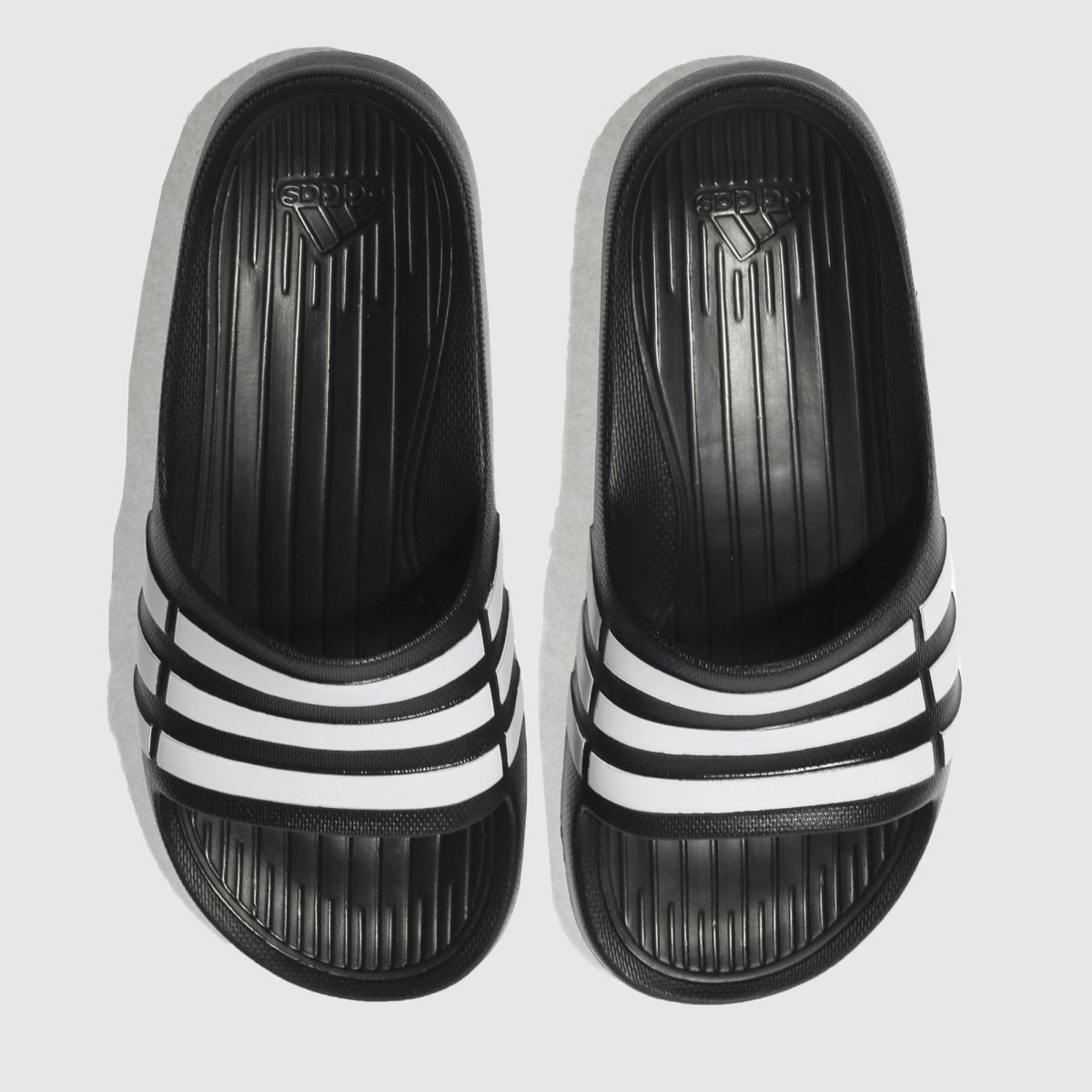 Adidas Black & White Duramo Slide Trainers Youth
