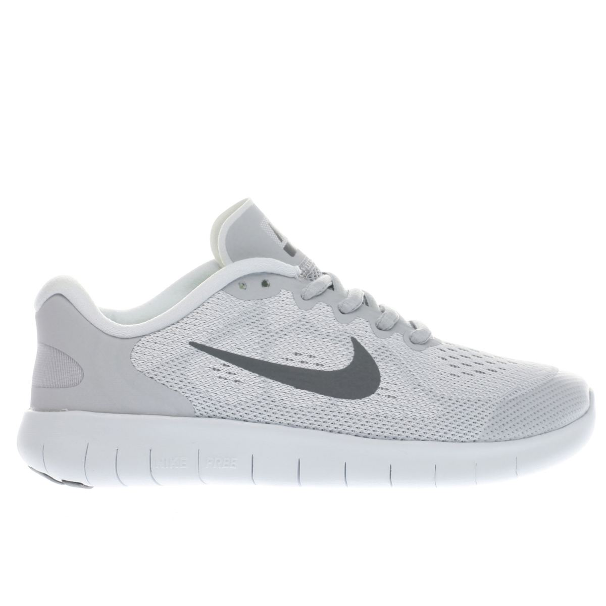 nike light grey free run 2 Youth Trainers