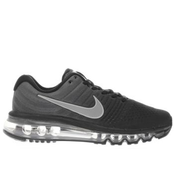 NIKE BLACK & GREY AIR MAX 2017 YOUTH TRAINERS