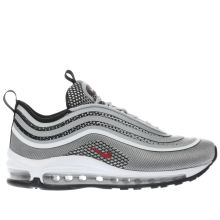 Nike Silver & Red Air Max 97 Ultra 17 Unisex Youth
