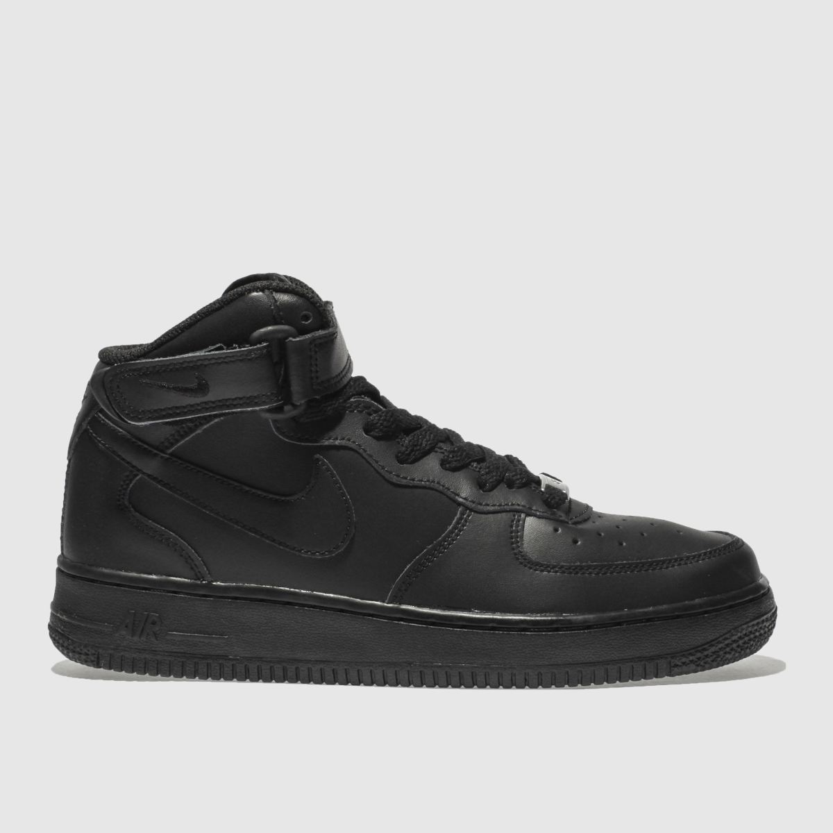 Nike Black Air Force 1 Mid Youth Trainers