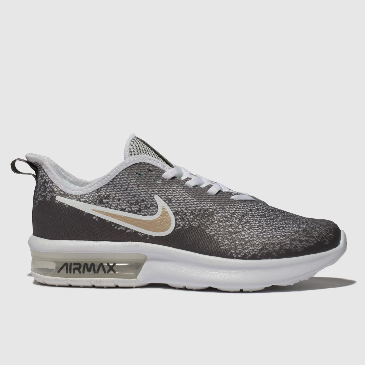 Nike Grey Air Max Sequent Trainers Youth