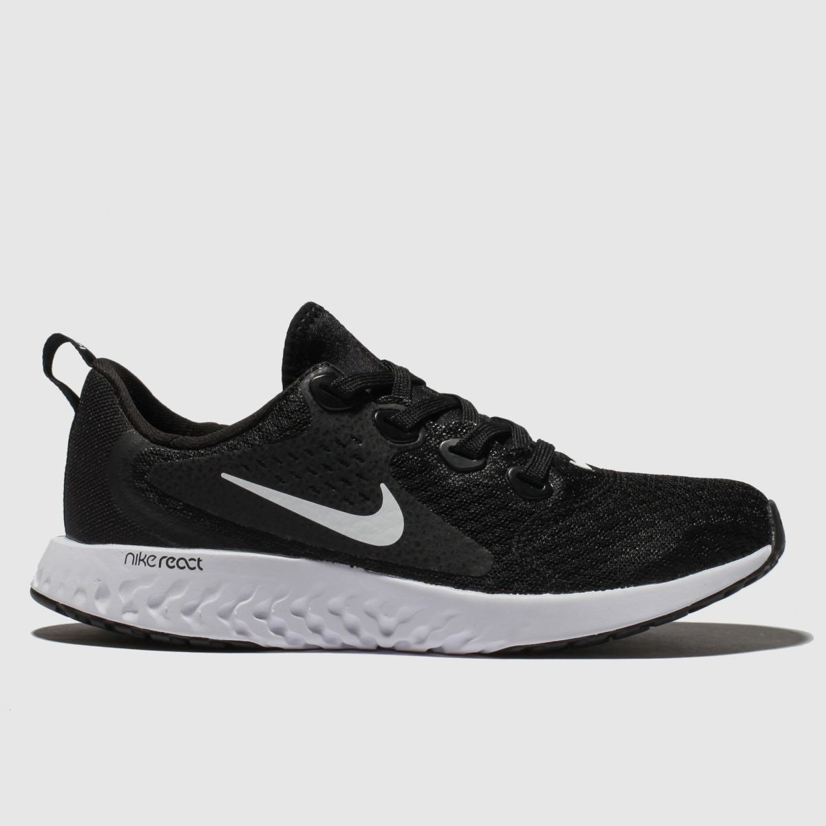 Nike Black & White Legend React Trainers Youth