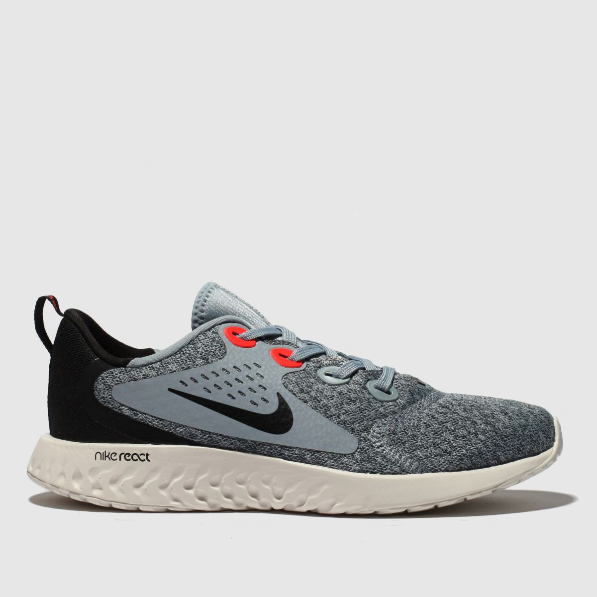 Nike Grey & Black Legend React Trainers Youth