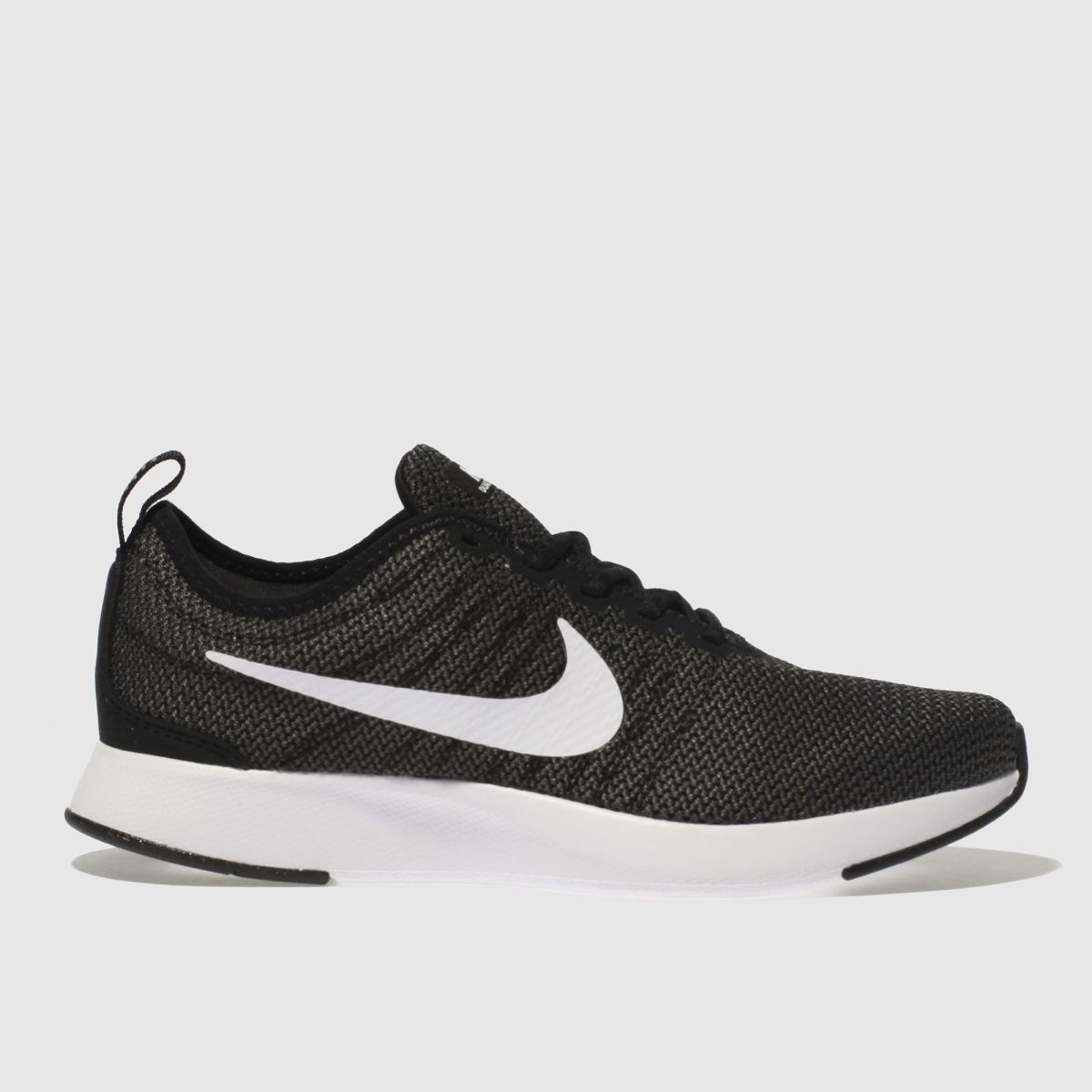 Nike Black & White Dualtone Racer Trainers Youth