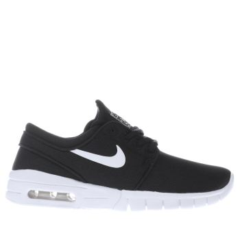 Nike Sb Black & White Janoski Max Unisex Youth
