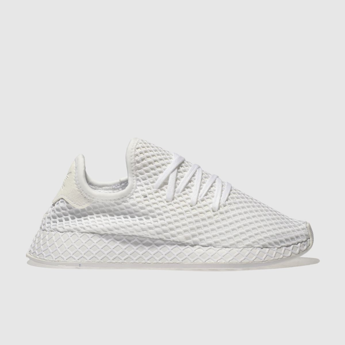 Adidas White Deerupt Runner Youth Trainers
