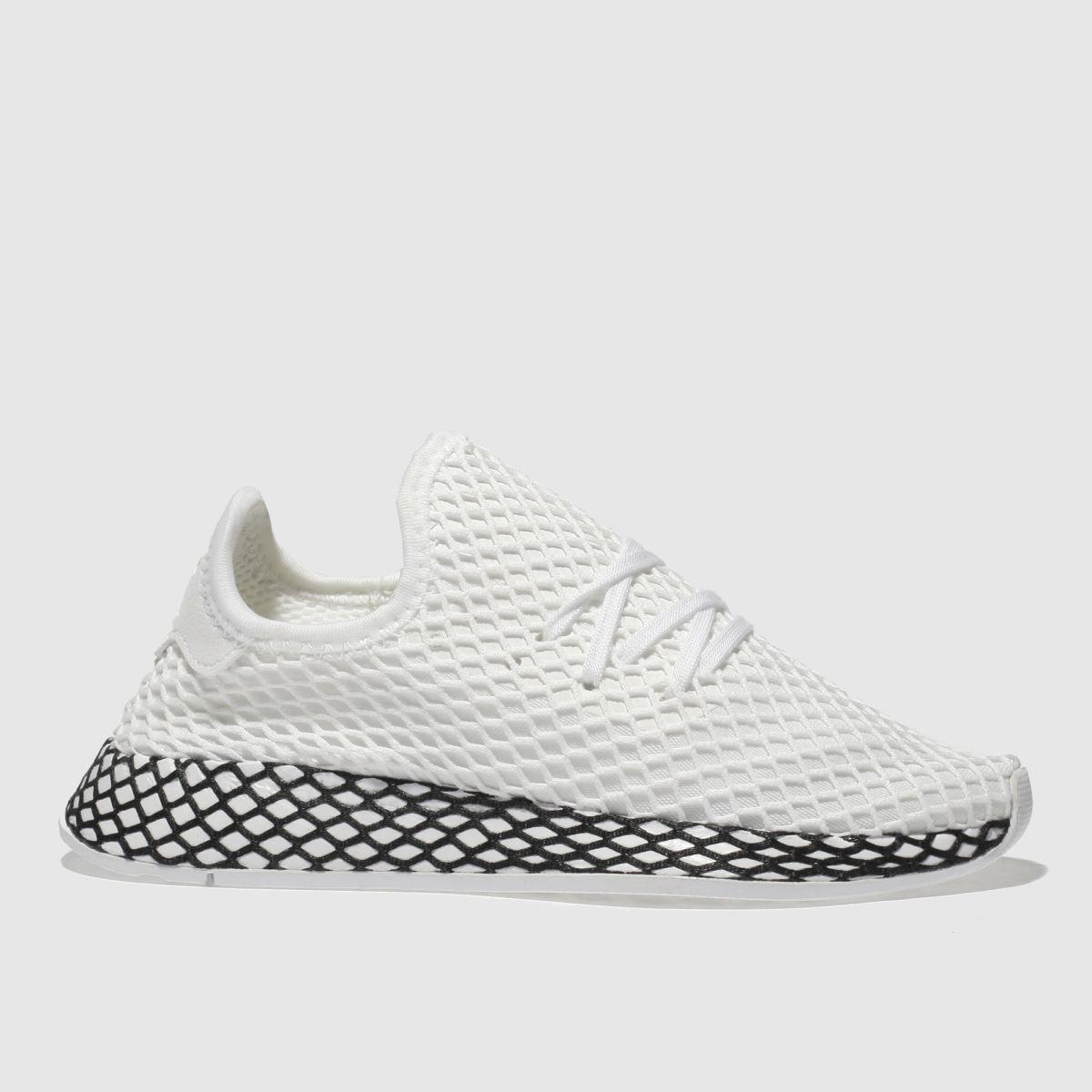 Adidas White & Black Deerupt Runner Unisex Youth Youth