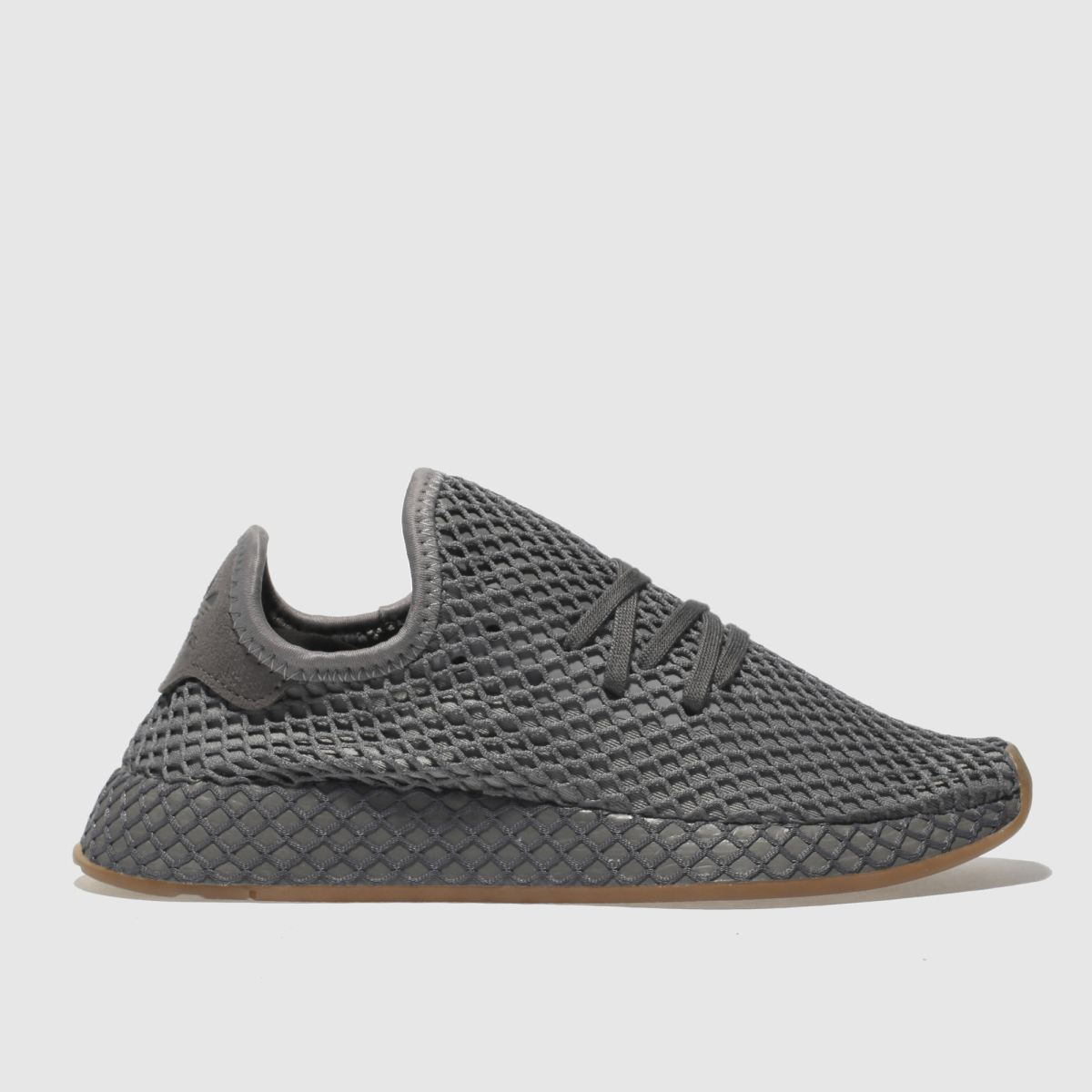 Adidas Dark Grey Deerupt Runner Youth Trainers