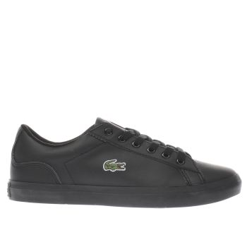 LACOSTE BLACK LEROND YOUTH TRAINERS