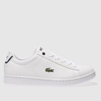 Lacoste White CARNABY EVO Unisex Youth