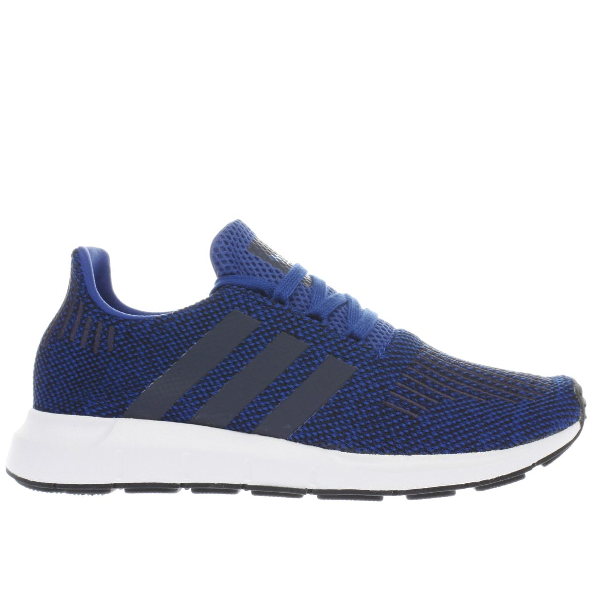 adidas navy & black swift run Youth Trainers
