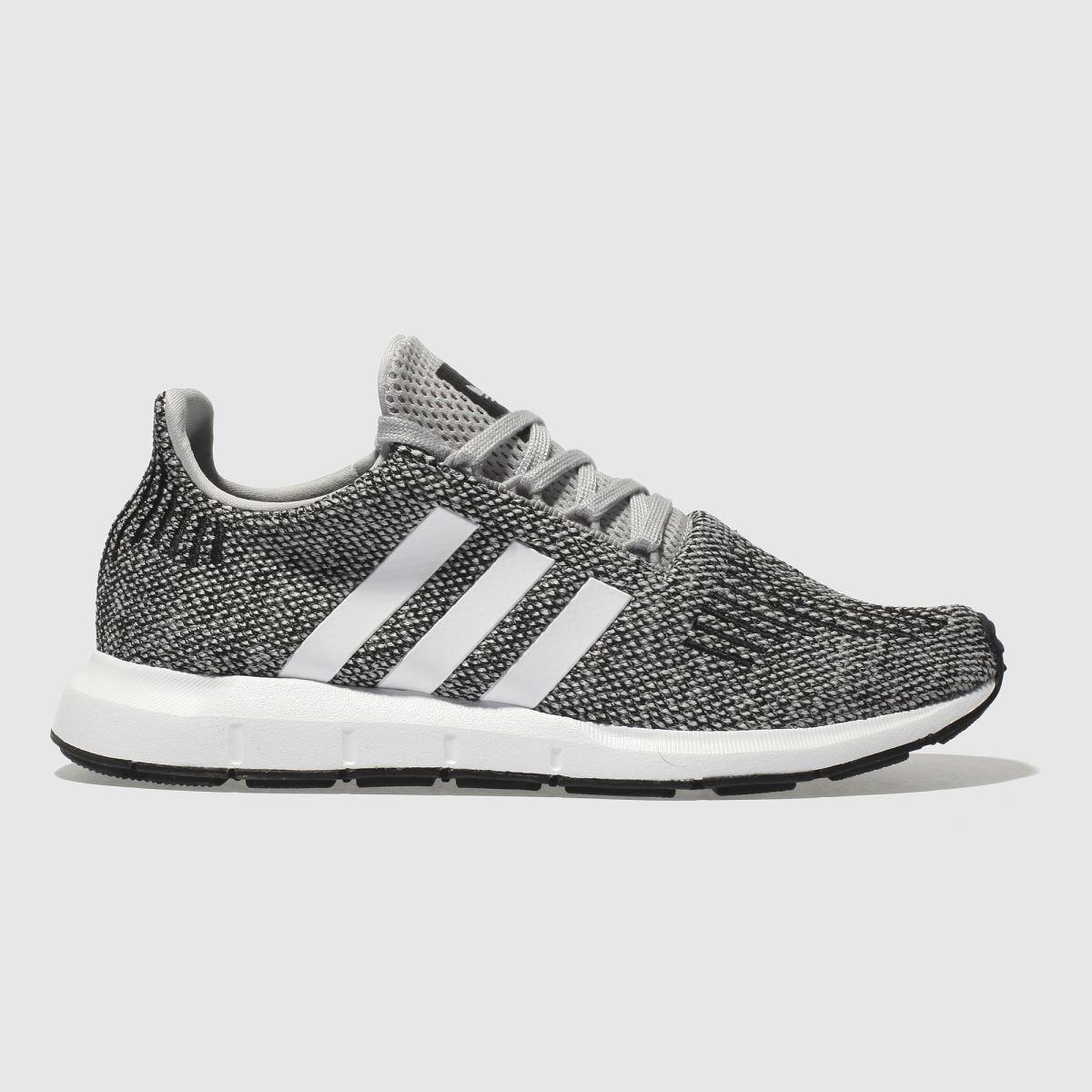 Adidas Light Grey Swift Run Youth Trainers