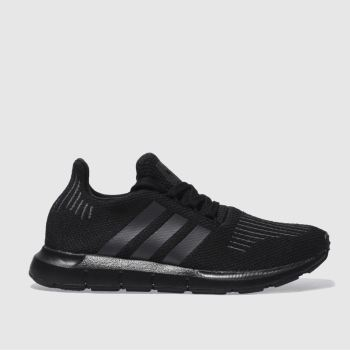 Adidas Black & Grey SWIFT RUN Unisex Youth