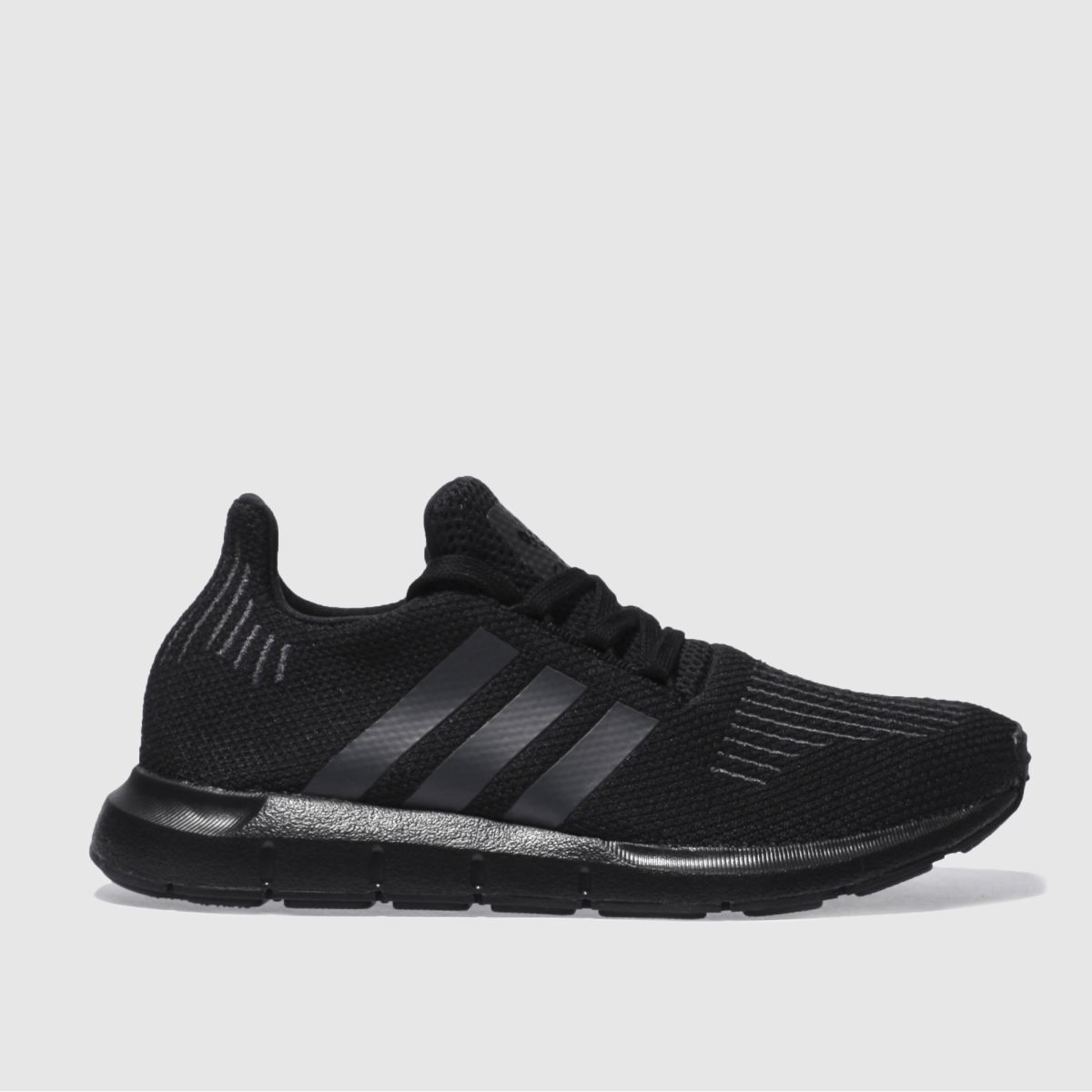 adidas black & grey swift run Youth Trainers