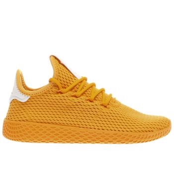 Adidas Yellow Pharrell Williams Tennis Hu J Unisex Youth