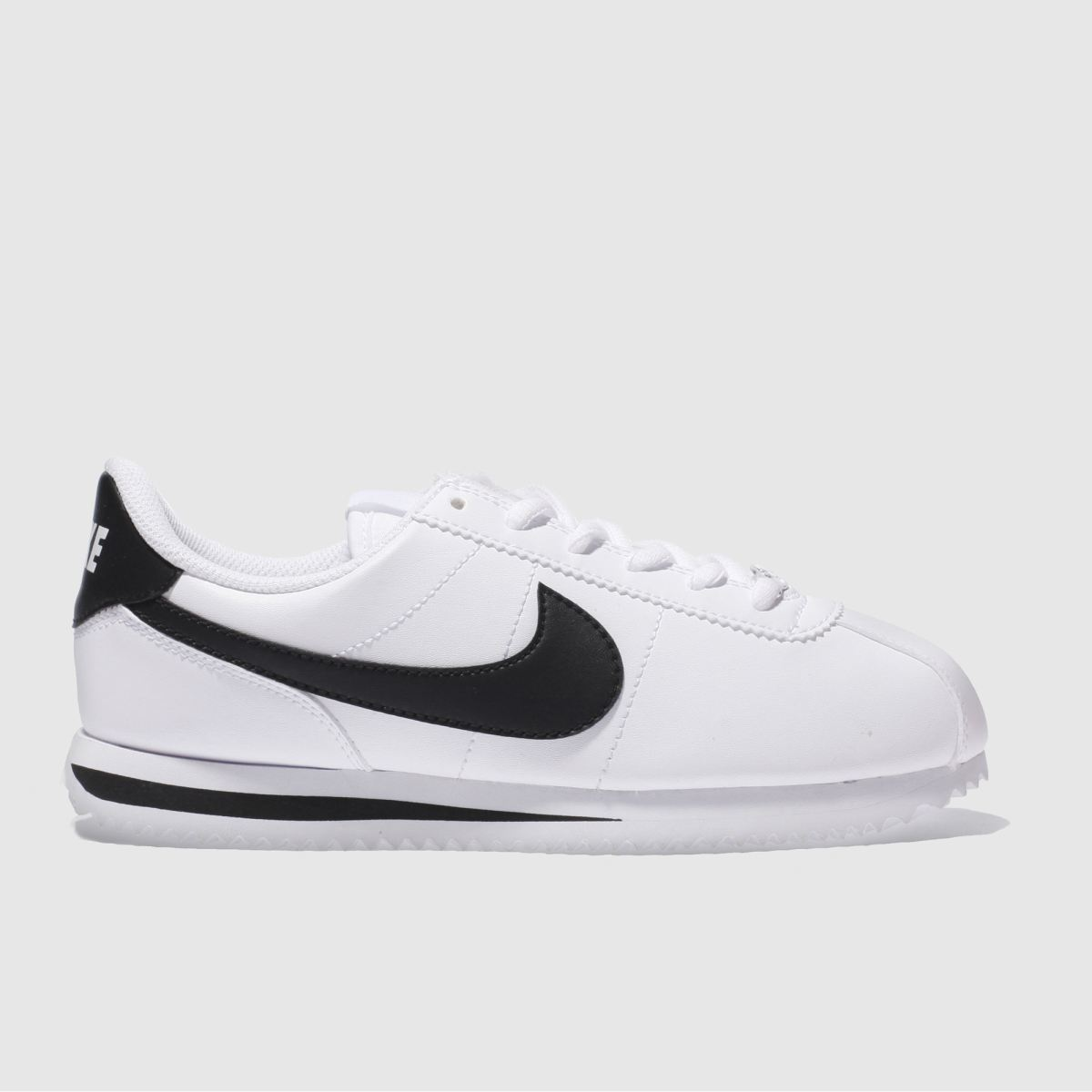 nike white & black cortez basic Youth Trainers