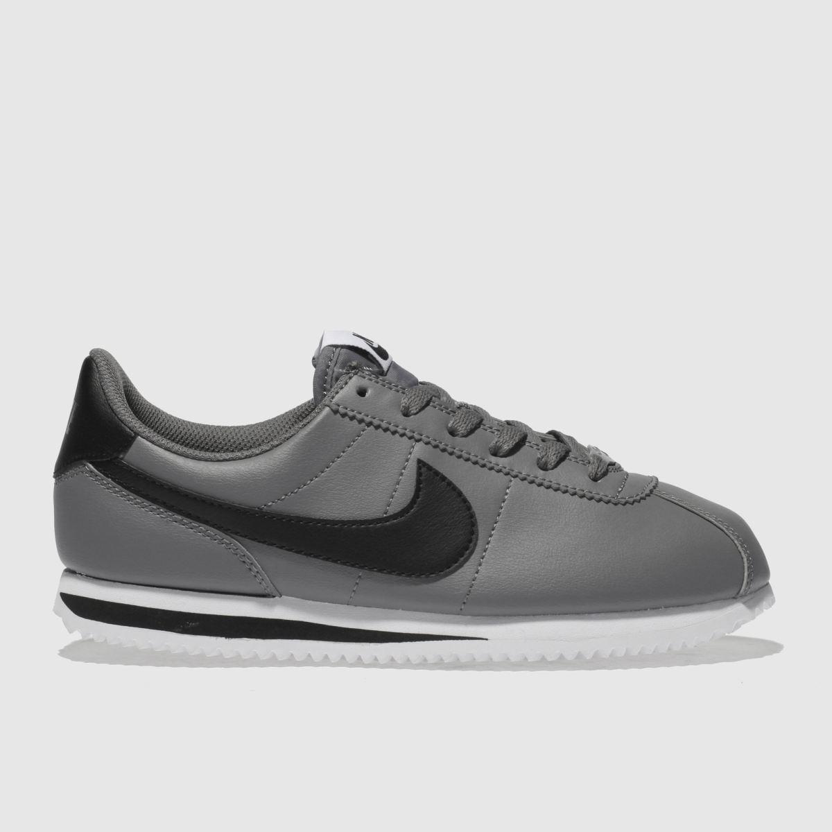 Nike Light Grey Cortez Basic Trainers Youth