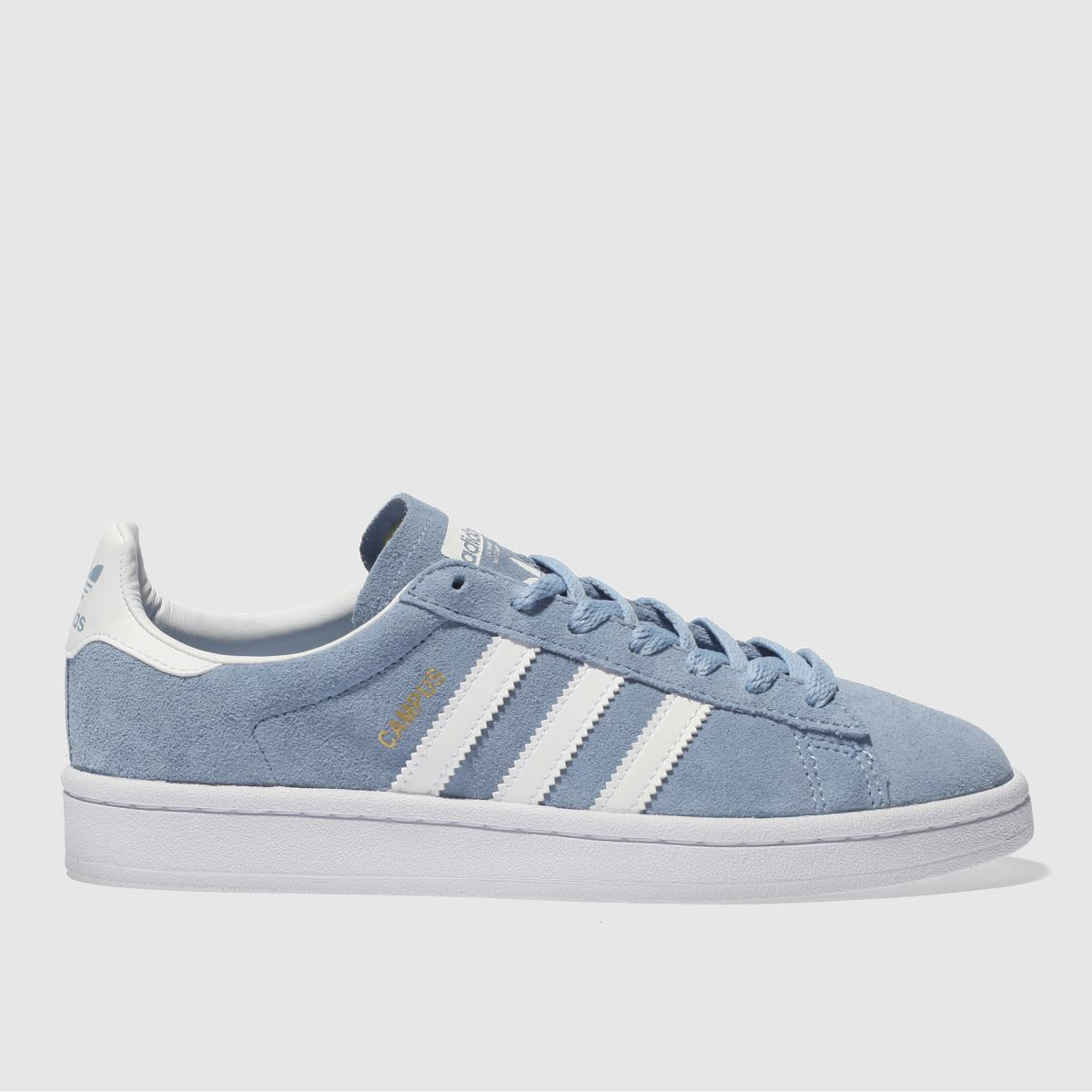Adidas Pale Blue Campus Youth Trainers