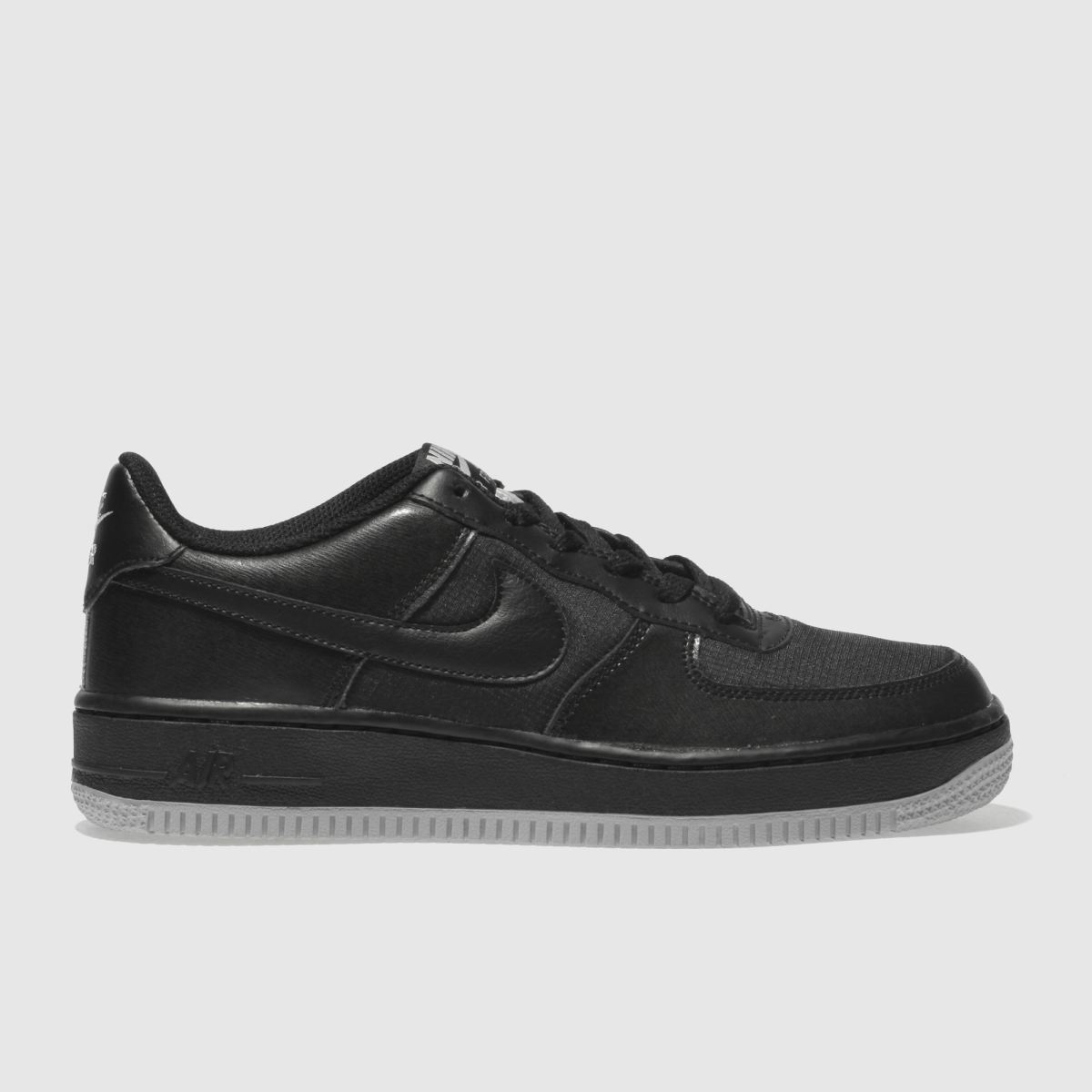 Nike Black & Grey Air Force 1 Lv8 Youth Trainers