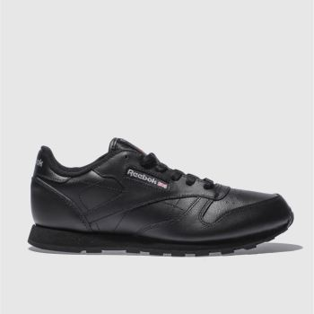 Reebok Black Classic Leather Unisex Youth
