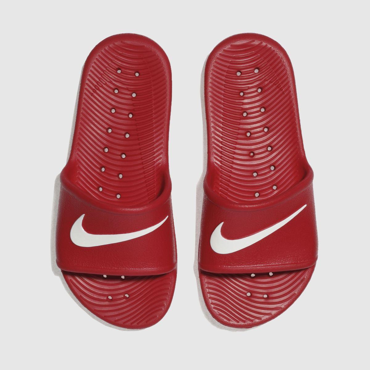 Nike Red Kawa Shower Trainers Youth