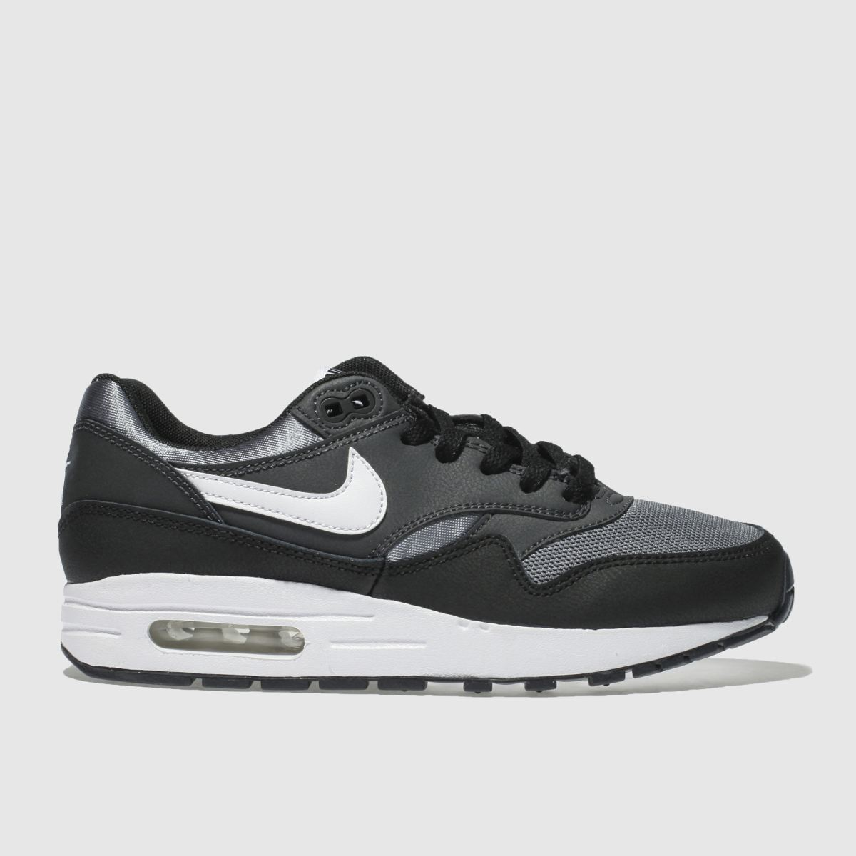 Nike Black & Grey Air Max 1 Unisex Youth Youth