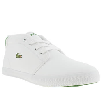 Lacoste White & Green Ampthill Unisex Youth