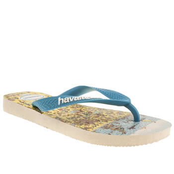 Havaianas White & Pl Blue Wally Unisex Youth