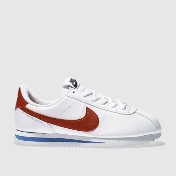 Nike White & Red CORTEZ CLASSIC Unisex Youth