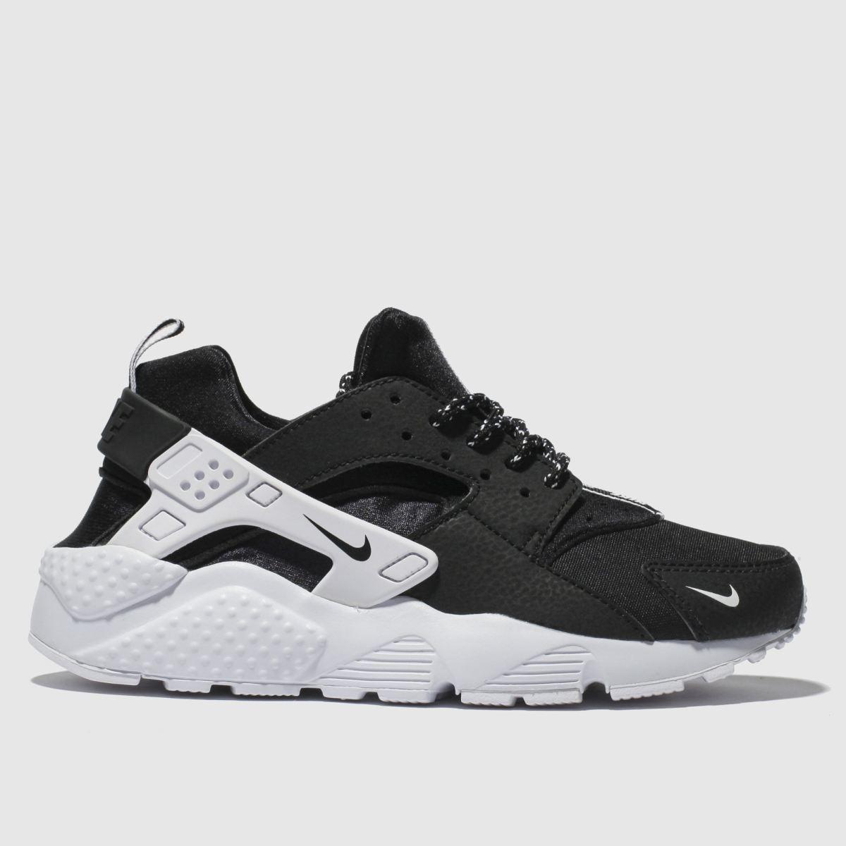 Nike Black & White Huarache Run Trainers Youth