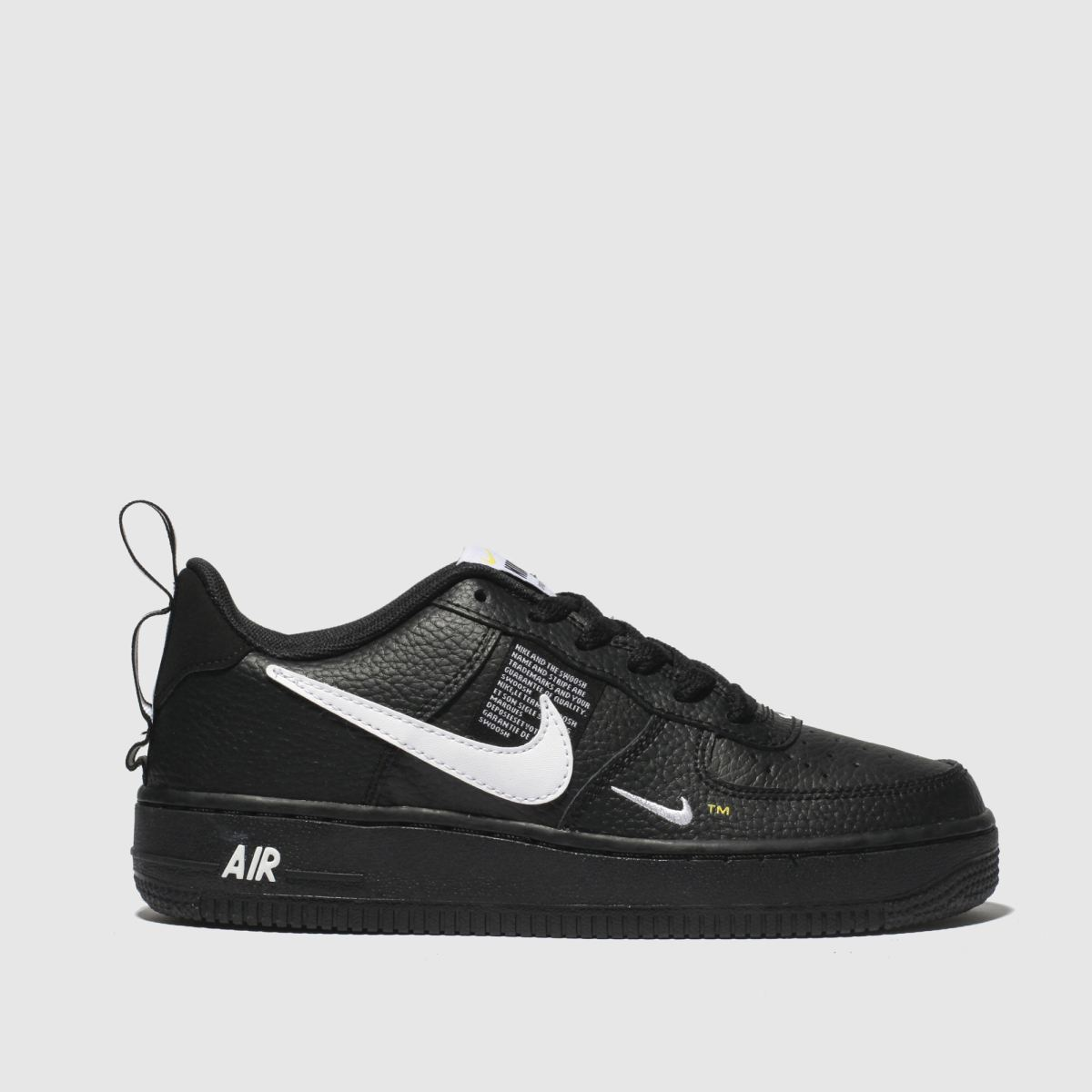 Nike Black & White Air Force 1 Lv8 Utility Trainers Youth