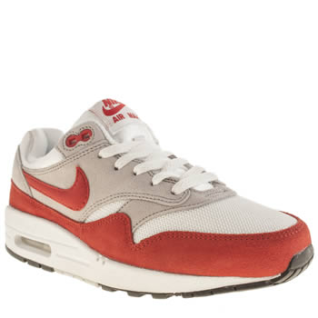 Nike White & Red Air Max 1 Unisex Youth