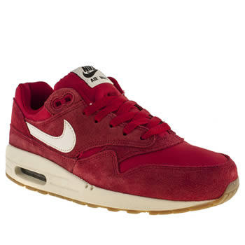 kids nike red air max 1 trainers