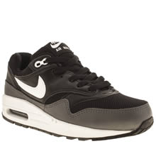 Youth Black & White Nike Air Max 1