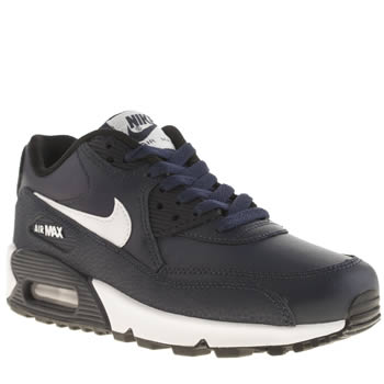 Nike Navy & White Air Max 90 Ltr Unisex Youth