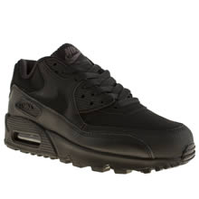 Youth Black Nike Air Max 90 Yth