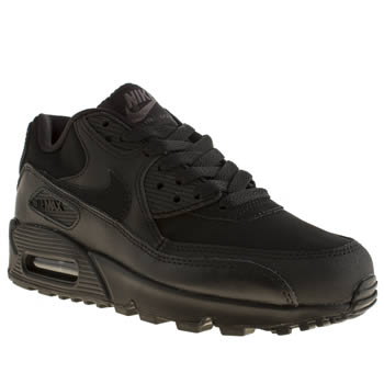 kids nike black air max 90 trainers