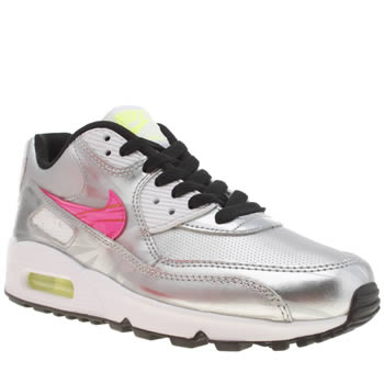 Nike Silver Air Max 90 Unisex Youth