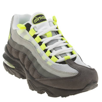 Nike Grey & Lime Air Max 95 Unisex Youth